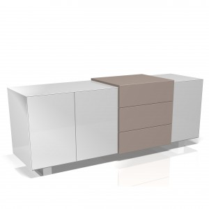 B214 Gillmore Space Marlow 3D sideboard white taupe