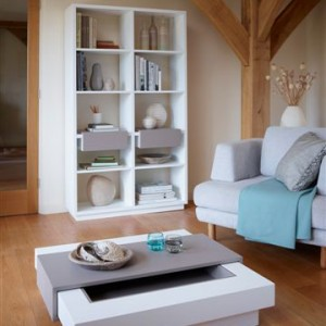 Marlow living room group white with stone GILLMORESPACE